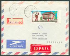 Enveloppe Recommandée Et Exprès De KIGALI 21-8-80 Vers Bruxelles -  11785 - Rwanda