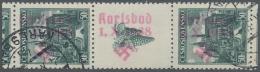 Sudetenland - Karlsbad: 1938, 50 H. Kaschau Im Senkrechten Zwischenstegpaar Mit Senkrechten Aufdruck Auf Marken Und Zier
