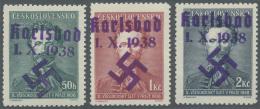 Sudetenland - Karlsbad: 1938, 50 H. Bis 2 Kc. Fügner, Kompletter Postfrischer Pracht-Satz, U.a. Signiert Dr. Dub Un