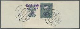 Sudetenland - Karlsbad: 1938, 50 H. Fügner Mit überdrucktem, Waagerechten Zierfeld Aus Der Linken Unteren Boge