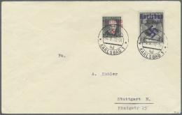 """Sudetenland - Karlsbad: 1938, 50 H. Und 2 Kc. Tod Von Masaryk Auf Adressiertem Umschlag Aus """"KARLSBAD 4d 4.X.38"""", Pracht"""