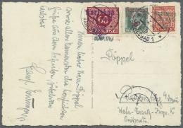 Sudetenland - Karlsbad: 1938, 60 Kc. Dunkelrot, Aufdruck Auf Portomarke, Zus. Mit 20 H. Rot Und 50 H. Schwarzblaugr&uuml