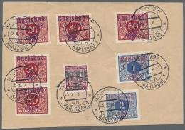 Sudetenland - Karlsbad: 1938, 40 H., 20 H., 50 H. (senkrechtes Paar), 60 H., 1 Kc. Und 2 Kc. Portomarken Sowie 30 H. Sta
