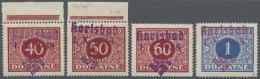 Sudetenland - Karlsbad: 1938, 40 H. Bis 1 Kc. Portomarken, Vier Postfrische Pracht-Werte, Alle Signiert