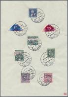 Sudetenland - Karlsbad: 1938, 50 H. Schwärzlichultramarin Und 50 H. Lebhaftmagenta Und Sechs Weiteren Aufdruckmarke