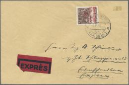 Sudetenland - Karlsbad: 1938, 3 Kc. Mit Handstempelaufdruck In Dunkelrosa Auf Postalisch Nicht Befördertem Umschlag