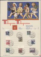 Sudetenland - Karlsbad: 1938, 1,50 Kc. Bis 3 Kc. Und 4 Kc. Stadtbilder Sowie 40 H. Komensky Und 50 H. Benes Je Mit Stemp
