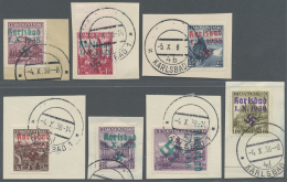 Sudetenland - Karlsbad: 1938, 1,20 Kc. Bis 4 Kc. Stadtbilder (2 Kc. Fehlt), Sieben Verschiedene Werte Auf Kabinett-Brief