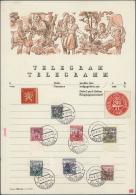 Sudetenland - Karlsbad: 1938, 1 Kc. Masaryk Mit Dunkelbläulichviolettem Handstempel, Unterrandstück Sowie 50 H