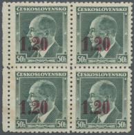 Sudetenland - Asch: 1938, 1,20 Kc. Auf 50 H. Benes Mit Normalem Aufdruck In Lebhaftmagenta Auf Der Vorderseite Und R&uum
