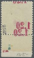 Sudetenland - Asch: 1938, 1,20 Kc. Auf 50 H. Benes Mit Aufdruck In Lebhaftmagenta, Unterrandstück Mit Rückseit