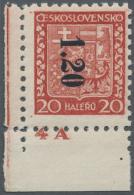 Sudetenland - Asch: 1938, 1,20 Kc. Auf 20 H. Staatswappen Mit Senkrechtem Aufdruck, Postfrisches Kabinett-Stück Aus