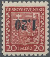Sudetenland - Asch: 1938, 1,20 Kc. Auf 20 H. Staatswappen Mit Kopfstehendem Aufdruck, Ungebraucht, Kabinett, Signiert Dr