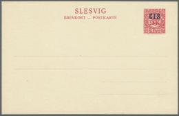 """Deutsche Abstimmungsgebiete: Schleswig - Ganzsachen: 1920. Set Der 3 Dienstpostkarten Mit WSt.-Aufdruck """"C.I.S."""", Ungebr"""