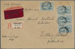 """Deutsche Abstimmungsgebiete: Oberschlesien: 1920, 60 Pfg. Freimarke, 4 Stück Je Mit Stempel """"REINERSDORF 3.3.21"""" Al"""