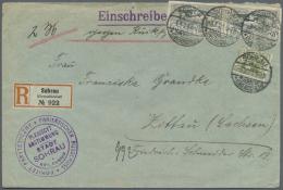 Deutsche Abstimmungsgebiete: Oberschlesien: 1920, 50 Pfg. (2) Und 40 Pfg. Freimarken Als Portogerechte Frankatur Auf R-R