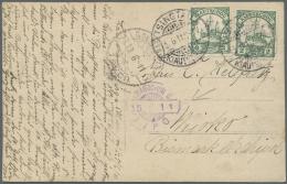 "Deutsche Kolonien - Kiautschou: 1911, To Bismarck-Archipelago, German New Guinea: 2 C. (2) Tied ""TSINGTAU 3.6.11"" Via ""C"