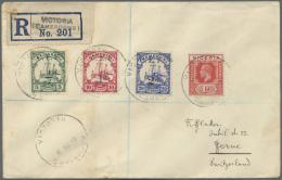Deutsche Kolonien - Kamerun - Britische Besetzung: 1919, Registered Letter From VICTORIA (CAMEROONS) Franked With C.E.F.