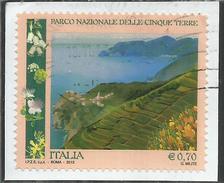 ITALY REPUBLIC ITALIA REPUBBLICA 2013 PARCO NAZIONALE DELLE CINQUE TERRE USATO USED OBLITERE´ - 6. 1946-.. Repubblica