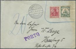Deutsch-Südwestafrika - Besonderheiten: 1914, Brief Mit Germania 10 Pf. Friedensdruck Sowie Togo 5 Pf. Kaiserjacht,