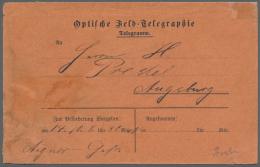 """Deutsch-Südwestafrika - Besonderheiten: Ein Sehr Seltener Roter Vordruck-Umschlag """"Optische Feld-Telegraphie Telegr"""