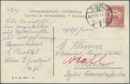 Deutsch-Südwestafrika - Besonderheiten: 1907/08, Lot Von 16 Ansichtskarten Aus 7 Europäischen Ländern, Al