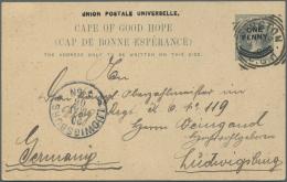 """Deutsch-Südwestafrika - Besonderheiten: 1906. """"UKAMAS"""" Karte Mit Text Bzgl. """"am Großen Fischfluß Wo Noc"""