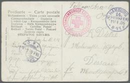"Deutsch-Südwestafrika - Besonderheiten: 1906: ""AK ""Liegepltz Der Woermann-Dampfer Am Petersenquai"" Per Feldpost Aus"