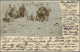 Deutsch-Südwestafrika - Besonderheiten: 1905, Seltene AK Mit Privatem Photo: Schiffs-Mannschaft Vor Grossem Haufen