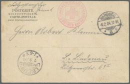 Deutsch-Südwestafrika - Besonderheiten: 1904: AK Aus HAMBURG 6.2.94 Per Feldpost Nach LEIPZIG LINDENAU 7.2.04 Von D