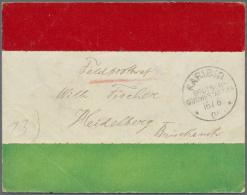 """Deutsch-Südwestafrika - Besonderheiten: 1904, Feldpostbrief In """"Flaggenfarben Rot-weiß-grün"""" (Greifswald"""