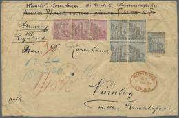 Deutsch-Südwestafrika - Besonderheiten: 1888: Neunfach-gewichtiger R-Brief Vom Ersten Postabgang Von Deutsch-S&uuml