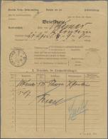 Deutsch-Südwestafrika - Stempel: 1913, UKAMAS (K1): Seltene Brief-Begleitkarte Für Einen Brief  (Form IIb) Nac