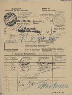 Deutsch-Südwestafrika - Stempel: 1913, WINDHUK (Brückenstpl. + Innendienst L2) Auf 'Briefkarte - Feuille D&acu