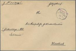"Deutsch-Südwestafrika - Stempel: ""Otjiwarongo"" Violetter Wanderstempel Als Gummistempel In Rundschrift Mit Datum 25"