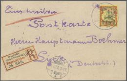 "Deutsch-Südwestafrika - Stempel: ""OKAHANDJA"" Violetter L1 Mit Wanderstempel II ""DEUTSCH-SÜDWEST-AFRIKA 26.2.04"