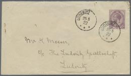 """Deutsch-Südwestafrika - Stempel: 1922, Aptierter Deutscher Stempel """"Lüderitz (bucht)"""" Mit Südafrika-Frank"""