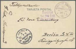 """Deutsch-Südwestafrika - Stempel: 1905, """"DEUTSCHE SEEPOST OST-AFRIKANISCHE HAUPTLINIE * H 29/3 05"""" Auf Feldpostkarte"""