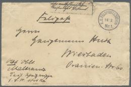 """Deutsch-Südwestafrika - Stempel: 1905: """"K.D. FELDPOSTSTATION Nr 1 24.2."""" Auf Feldpostbrief Von Oberleutnant Malbran"""