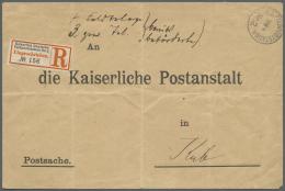"""Deutsch-Südwestafrika - Stempel: 1905: K.D. FELDPOSTSTATION Nr. 2 20.8."""" Aus Gibeon MAltahöhe Auf R-Brief Mit"""