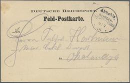"""Deutsch-Südwestafrika - Stempel: 1904 """"Abbabis DEUTSCH SÜDWESTAFRIKA 9/9 * 04 *"""" Wanderstempel In SCHWARZ (Ant"""