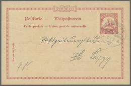 """Deutsch-Südwestafrika - Ganzsachen: 1912: """"WINDHUK DEUTSCH SÜDWESTAFRIKA * A 6/3 12"""" Späte Verwendung Des"""