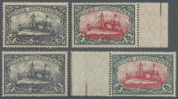 Deutsch-Südwestafrika: 1906, 3 Pfg. Bis 5 M. Kaiseryacht Mit Wasserzeichen, überkompletter Satz Mit Zusät