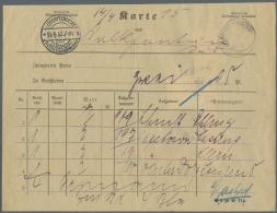 Deutsch-Südwestafrika: 1913: LÜDERITZBUCHT. Seltene Begleitkarte Für 4 Reco-Briefe (Form IIa), Davon 2 Au