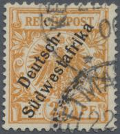 "Deutsch-Südwestafrika: 1900. 25 Pf Gelblichorange, Gestempelt ""Keetma(nshoop) 22(/...) 0(0)"". FA Jäschke-L. BP"
