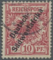 "Deutsch-Südwestafrika: 1900. 10 Pf Dunkelrosa(rot) ""Deutsch-Südwestafrika"", Gestempelt ""(Omaruru) (22/...) 00"""