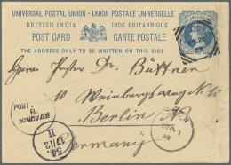 """Deutsch-Ostafrika - Besonderheiten: 1888, 1½ Anna Postal Stationery Card With """"ZANZIBAR NO 20 88"""", Cds """"POST OFFI"""