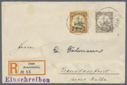 """Deutsch-Ostafrika - Stempel: """"UTETE"""" (Deutsch-Ostafrika) 4.1.14"""" Auf Phila-R-Brief (Empfängername Gelöscht Und"""