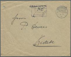 """Deutsch-Ostafrika - Stempel: 1916, Brief Mit Barfrankierungsstempel """"Fr. Lt. Einn. Nachw. In Morogoro"""" Und Großer"""