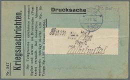 Deutsch-Ostafrika: 1916, 2 1/2 Heller Violetter Barfreimachungs-L1 Im Rahmenstempel Mit Handzeichen Von 2 Postbeamten Au